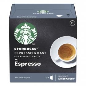 Café espresso en cápsulas Starbucks compatible con Dolce Gusto 12 unidades de 5,5 g.