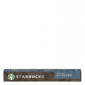 Café espresso tostado en cápsulas Starbucks compatible con Nespresso 10 unidades de 5,7 g.