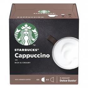 Café cappuccino en cápsulas Starbucks compatible con Dolce Gusto 6 unidades de 20 g.