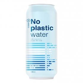 Agua mineral No Plastic Water Ocean 52 con gas lata 33 cl.
