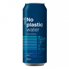 Agua mineral No Plastic Water Ocean 52 natural 33 cl.
