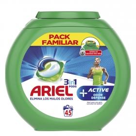 Detergente en cápsulas 3 en 1Sport Ariel 45 ud.
