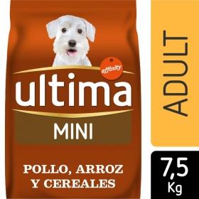 Ultima Pienso para Perro Adulto Mini Sabor Pollo, Arroz y Cereales 7,5 kg