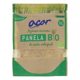 Azúcar moreno de caña integral panela ecológico Acor 250 g.