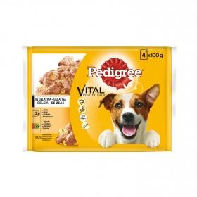 Pack de Bolsitas 4x100 gr Pedigree Pollo, Cordero para Perro