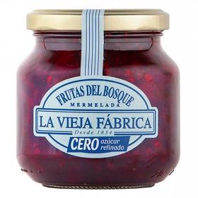 Mermelada de frutas del bosque cero azúcar La Vieja Fábrica