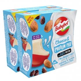 Queso mini Babybel Cheese & Protein pack de 2 unidades de 40 g.