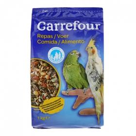Comida para Periquitos y Loros 1 Kg, Carrefour