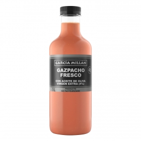 Gazpacho fresco con aceite de oliva virgen extra García Millán 1 l.