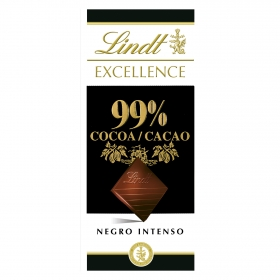 Chocolate negro 99% Lindt Excellence 50 g.