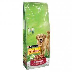 Purina Friskies Pienso para Perro Adulto Buey, Cereales y Verduras 15Kg