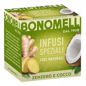 Infusión de jengibre y coco Bonomelli 20 g.