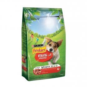 Purina Friskies Mini Menu Pienso para Perro Adulto Buey 1,5Kg