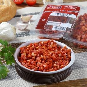Chorizo curado en taquitos