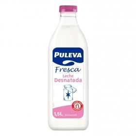 Leche desnatada fresca Puleva botella 1 l.