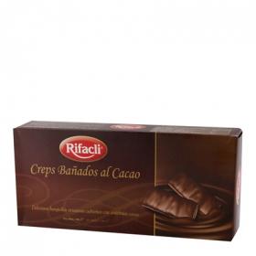 Creps bañados al cacao