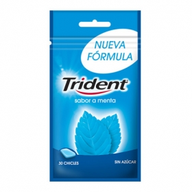 Chicles sabor menta Trident 30 ud.