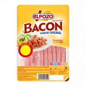 Bacon en lonchas El Pozo 120 g.