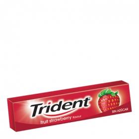 Chicles sabor fresa Trident 13,5 g.