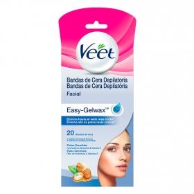 Bandas de cera depilatoria facial