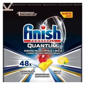 Lavavajillas máquina quantum ultimate aroma limón en pastillas Finish 48 ud.