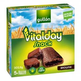 Snack brownie Gullón Vitalday 5 unidades de 40,5 g.