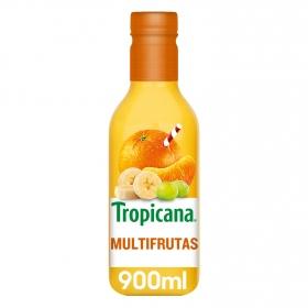 Zumo multifrutas Tropicana botella 90 cl.