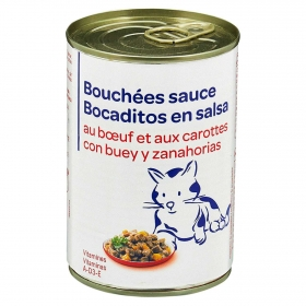 Alimento Húmedo para Gato con Buey y Zanahorias 400gr