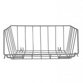 Cesto Hilo Metal Ordenación Apilable EQUINOX 29x22x21,5 cm - Gris