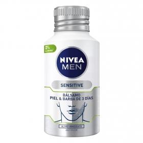 Bálsamo para piel y barba de 3 días Sensitive Nivea Men 125 ml.