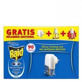 Insecticida eléctrico antimosquitos líquido aparato + 2 recambios Raid 1 ud.