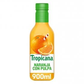 Zumo de naranja Tropicana exprimido con pulpa botella 90 cl.