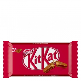 Barrita de galleta crujiente cubierta de chocolate Nestlé Kit Kat 3 ud.