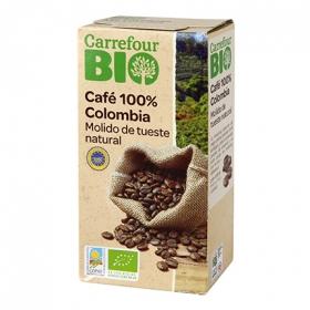 Café molido natural Colombia ecológico Carrefour Bio 250 g.