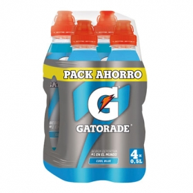 Bebida Isotónica Gatorade Cool Blue pack de 4 botellas de 50 cl.