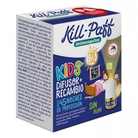Insecticida eléctrico difusor + recambio Kids Kill-Paff  1 ud.
