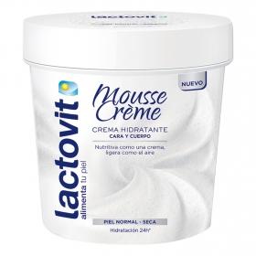 Crema hidratante para cara y cuerpo Lactovit 250 ml.