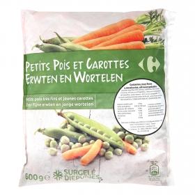 Guisantes y zanahorias Carrefour 600 g.