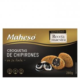 Croquetas de chipirones en su tinta Maheso 280 g.