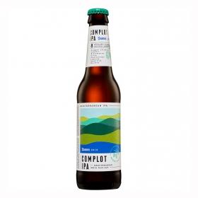 Cerveza artesana Damm Complot IPA botella 33 cl.