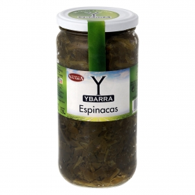 Espinacas al natural hacienda frasco Ybarra 425 g.