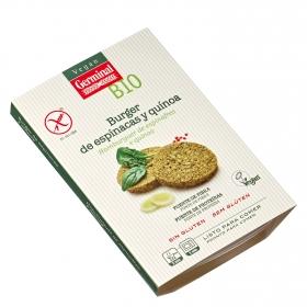 Burguer de espinacas y quinoa ecológico Vegan Germinal sin gluten 180 g.