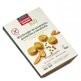Miniburguer de amaranto, guisante y zanahoria ecológico Vegan Germinal sin gluten 160 g.