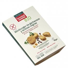 Miniburguer de alubias negras y garbanzos ecológico Vegan Germinal sin gluten 160 g.