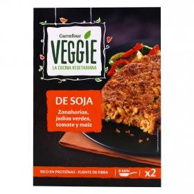 Hamburguesa de soja con verduras Veggie