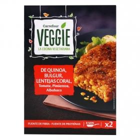 Hamburguesa vegetariana Quinoa y Albahaca Veggie Carrefour Veggie 200 g.