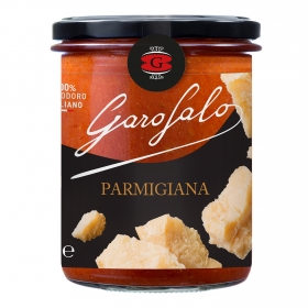 Salsa parmesana para pasta Garofalo tarro 400 g.