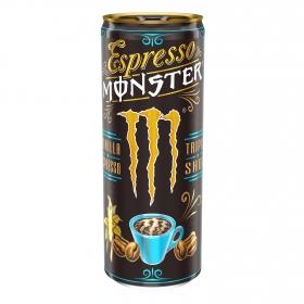 Café espresso sabor vainilla Monster 250 ml.