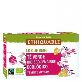 Té verde con hibisco y jengibre ecológico Ethiquable 20 uds.