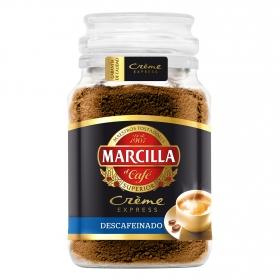 Café soluble mezcla descafeinado créme express